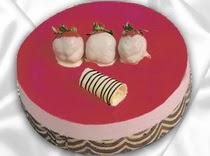 pasta siparisi 4 ile 6 kisilik yas pasta çilekli yaspasta  Siirt online çiçek gönderme sipariş