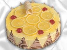 taze pastaci 4 ile 6 kisilik yas pasta limonlu yaspasta  Siirt ucuz çiçek gönder