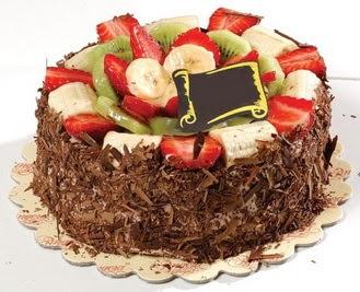 pastaci firmasindan 4 ile 6 kisilik çikolata meyvali yaspasta  Siirt çiçek yolla