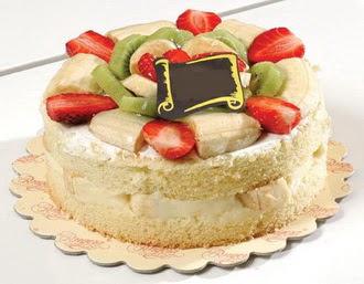 pasta siparisi 4 ile 6 kisilik karisik meyvali yas pasta  Siirt online çiçek gönderme sipariş