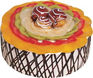 pasta siparisi 4 ile 6 kisilik meyvali yas pasta  Siirt yurtiçi ve yurtdışı çiçek siparişi
