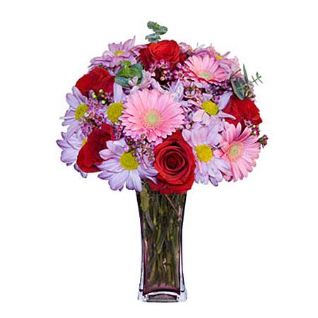 Görsel hediye karisik cam mevsim demeti  Siirt çiçek gönderme sitemiz güvenlidir