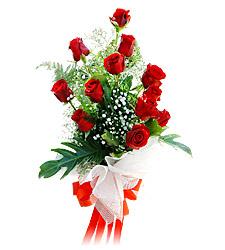 11 adet kirmizi güllerden görsel sölen buket  Siirt çiçek , çiçekçi , çiçekçilik