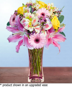 Anneme hediye karisik cam mevsim demeti  Siirt çiçek satışı