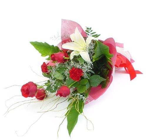 Mevsim çiçeklerinden karisik buket  Siirt hediye çiçek yolla
