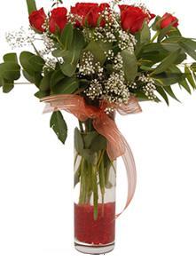 Siirt çiçek siparişi sitesi  11 adet kirmizi gül vazo çiçegi