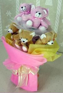 8 adet ayiciktan buket  Siirt hediye çiçek yolla
