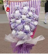 11 adet pelus ayicik buketi  Siirt çiçek servisi , çiçekçi adresleri