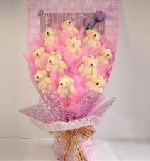 11 adet pelus ayicik buketi  Siirt çiçek mağazası , çiçekçi adresleri