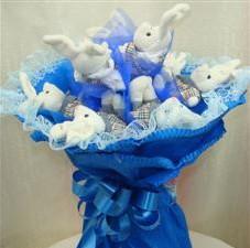 7 adet pelus ayicik buketi  Siirt online çiçekçi , çiçek siparişi