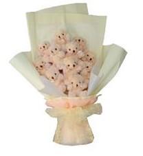 11 adet pelus ayicik buketi  Siirt çiçek yolla , çiçek gönder , çiçekçi