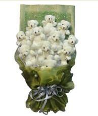 11 adet pelus ayicik buketi  Siirt ucuz çiçek gönder