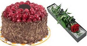 1 adet yas pasta ve 1 adet kutu gül  Siirt çiçek siparişi sitesi