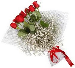7 adet kirmizimi kirmizi gül buketi  Siirt internetten çiçek siparişi