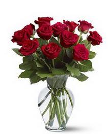 Siirt çiçek servisi , çiçekçi adresleri  cam yada mika vazoda 10 kirmizi gül