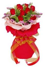Siirt çiçekçi mağazası  8 Adet kirmizi güllerden buket tanzimi