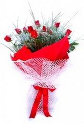 Siirt çiçek online çiçek siparişi  9 adet kirmizi gül buketi demeti