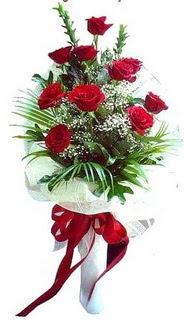Siirt çiçek yolla , çiçek gönder , çiçekçi   10 adet kirmizi gül buketi demeti