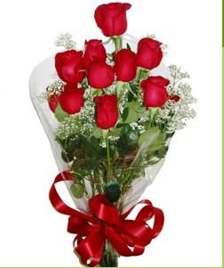 Siirt çiçek siparişi sitesi  10 adet kırmızı gülden görsel buket