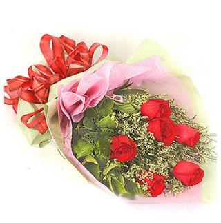 Siirt online çiçekçi , çiçek siparişi  6 adet kırmızı gülden buket
