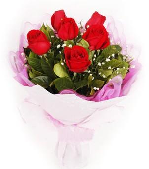 Siirt internetten çiçek siparişi  kırmızı 6 adet gülden buket