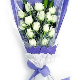 Siirt çiçek gönderme sitemiz güvenlidir  11 adet beyaz gül buket modeli
