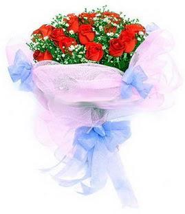 Siirt çiçek yolla  11 adet kırmızı güllerden buket modeli