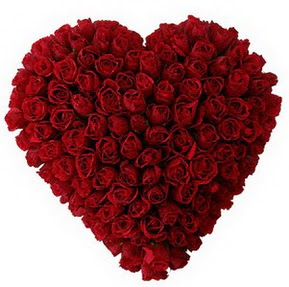 Siirt çiçek gönderme sitemiz güvenlidir  muhteşem kırmızı güllerden kalp çiçeği