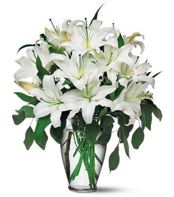 Siirt çiçek gönderme  4 dal kazablanka ile görsel vazo tanzimi