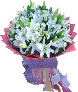 7 dal cazablanca görsel buketi  Siirt çiçek gönderme sitemiz güvenlidir