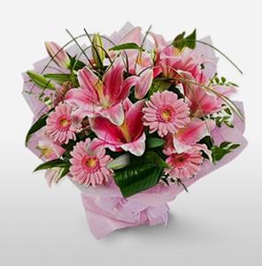 1 dal kazablanka ve kır çiçek görsel buketi  Siirt çiçek gönderme