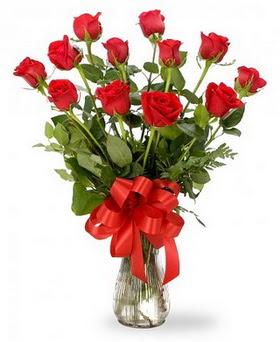 Siirt online çiçekçi , çiçek siparişi  12 adet kırmızı güllerden vazo tanzimi
