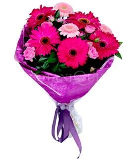 Siirt çiçek yolla  karışık gerbera çiçeği buketi