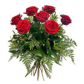 Siirt ucuz çiçek gönder  7 adet kırmızı gülden buket