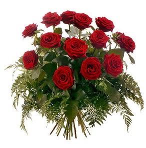 Siirt çiçek gönderme  15 adet kırmızı gülden buket