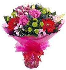 Karışık mevsim çiçekleri demeti  Siirt ucuz çiçek gönder