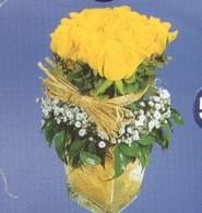 Siirt çiçekçiler  Cam vazoda 9 Sari gül