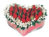 Siirt güvenli kaliteli hızlı çiçek  mika kalpte kirmizi güller 9