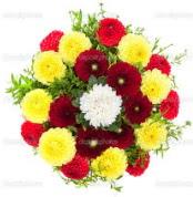 Siirt çiçek gönderme sitemiz güvenlidir  13 adet mevsim çiçeğinden görsel buket