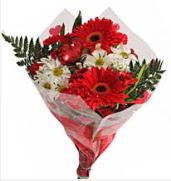 Mevsim çiçeklerinden görsel buket  Siirt çiçekçi telefonları