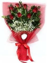 7 adet kırmızı gülden buket tanzimi  Siirt hediye çiçek yolla