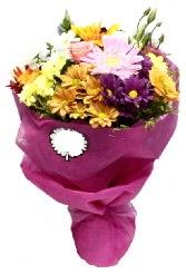 1 demet karışık görsel buket  Siirt çiçekçiler