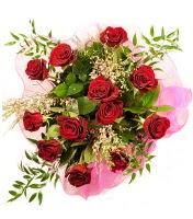 12 adet kırmızı gül buketi  Siirt internetten çiçek satışı