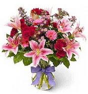 Vazo içerisinde karışık mevsim çiçeği  Siirt çiçek yolla