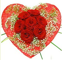Mika kalp içerisinde 7 adet kırmızı gül  Siirt çiçek gönderme sitemiz güvenlidir