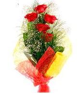 5 li kırmızı gül buketi  Siirt çiçek gönderme