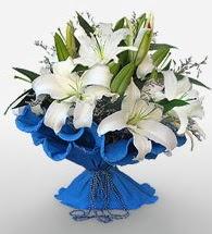 4 dal kazablanka çiçeğinden buket  Siirt hediye çiçek yolla