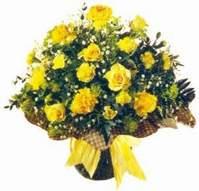 Siirt online çiçekçi , çiçek siparişi  Sari gül karanfil ve kir çiçekleri