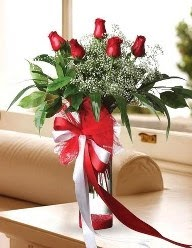 Camda 5 kırmızı gül tanzimi  Siirt güvenli kaliteli hızlı çiçek