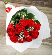 9 kırmızı gülden buket çiçeği  Siirt kaliteli taze ve ucuz çiçekler